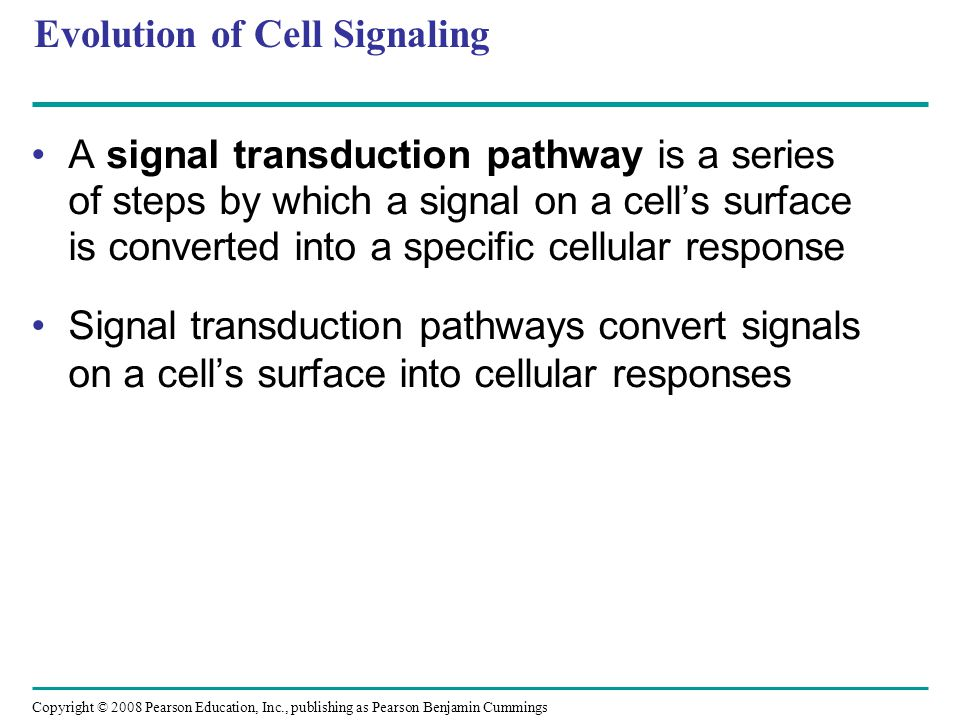 Evolution of Cell Signaling