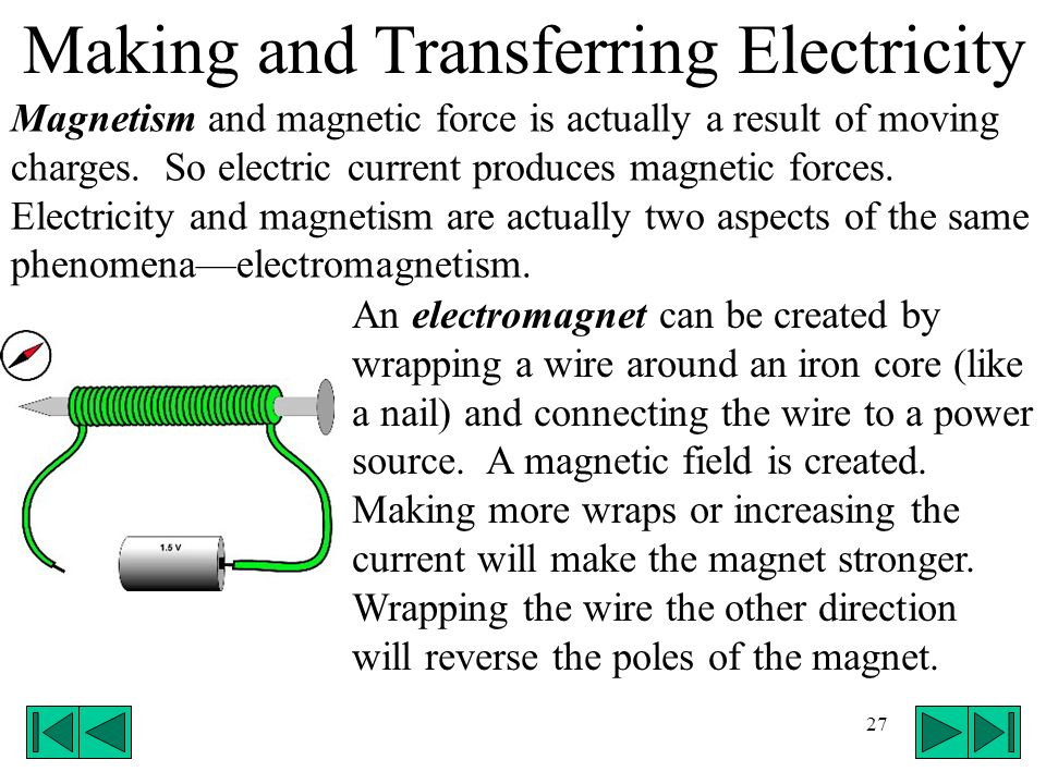 Making and Transferring Electricity