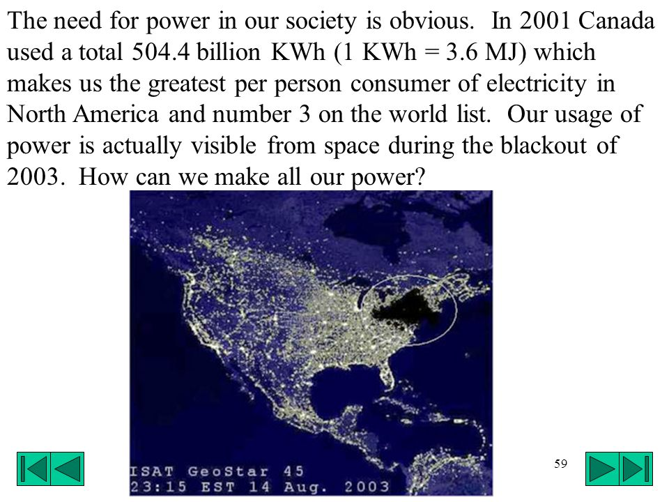 The need for power in our society is obvious