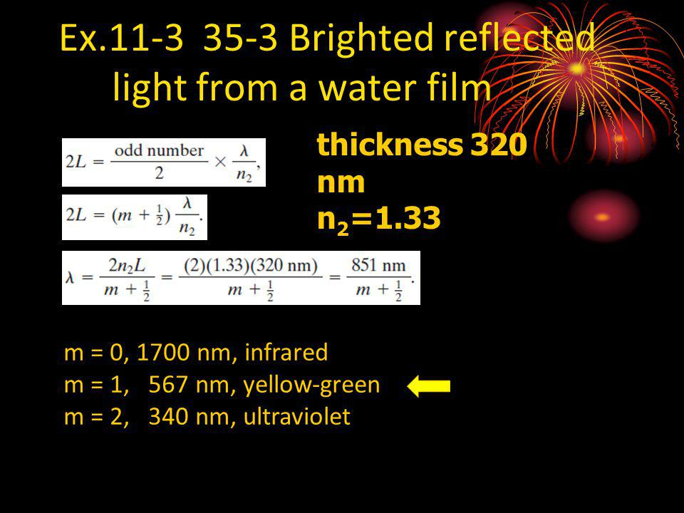 Ex.11-3 35-3 Brighted reflected light from a water film