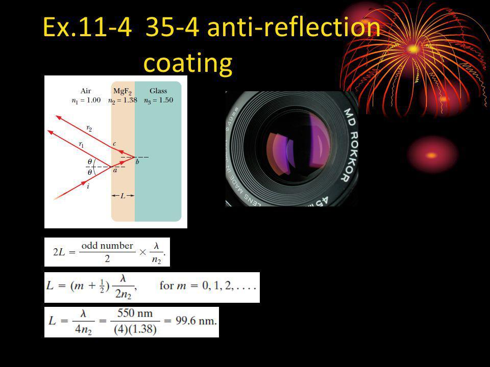 Ex.11-4 35-4 anti-reflection coating