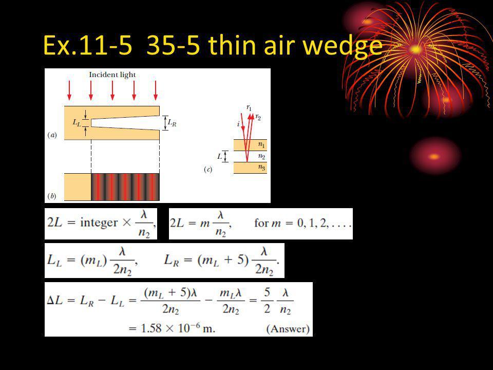 Ex.11-5 35-5 thin air wedge