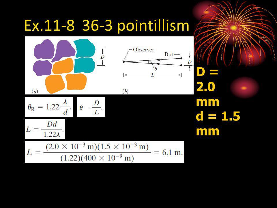 Ex.11-8 36-3 pointillism D = 2.0 mm d = 1.5 mm