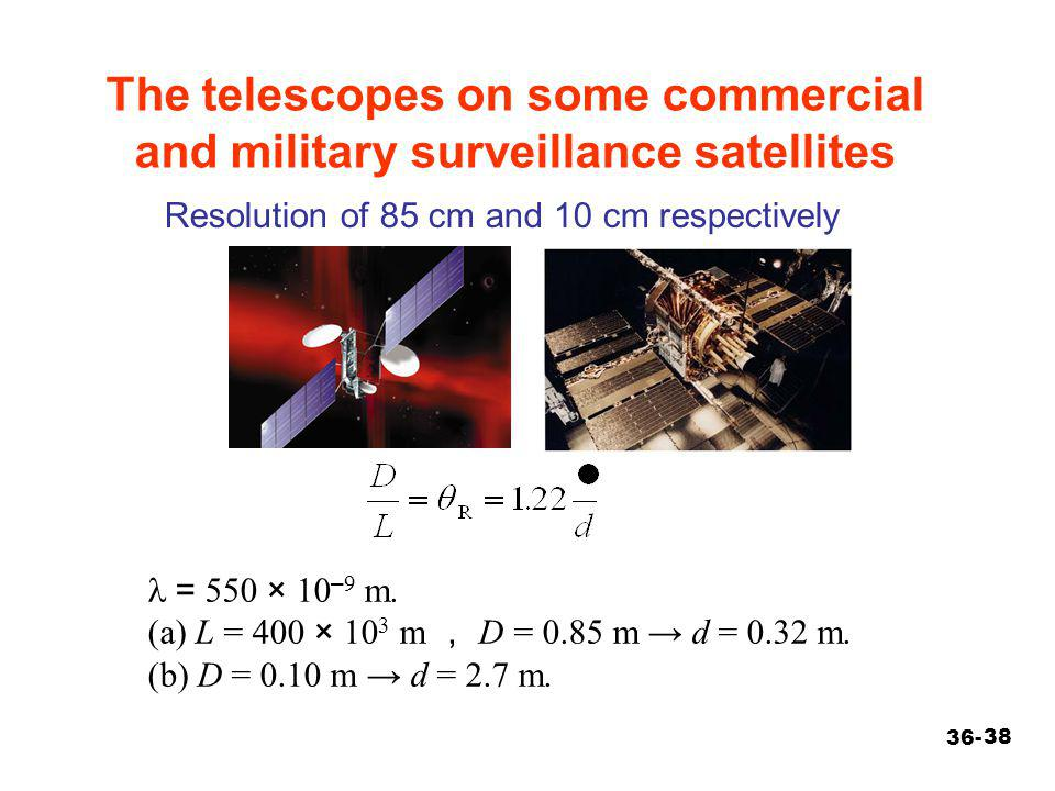 The telescopes on some commercial and military surveillance satellites