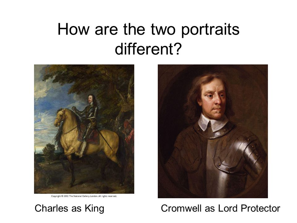 How are the two portraits different