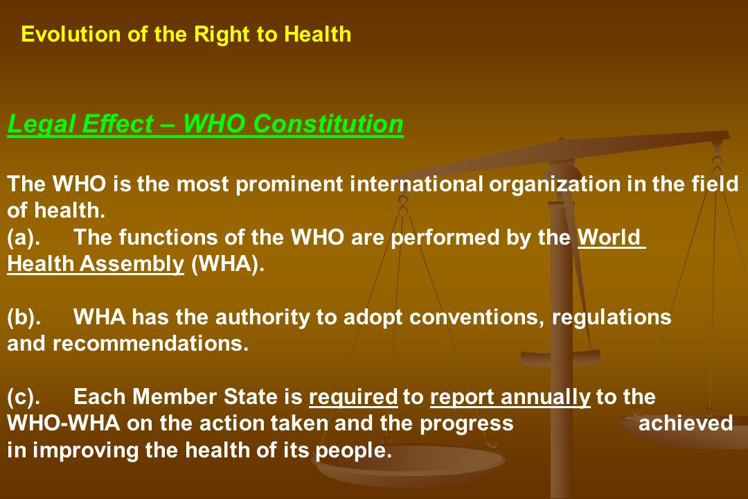 Legal Effect – WHO Constitution