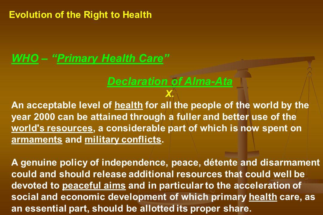 Declaration of Alma-Ata