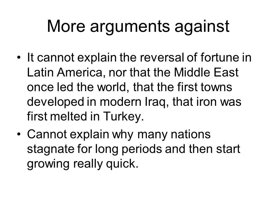 More arguments against