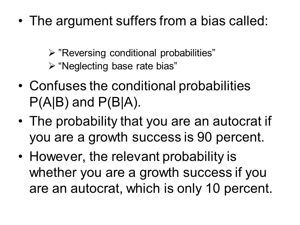 The argument suffers from a bias called: