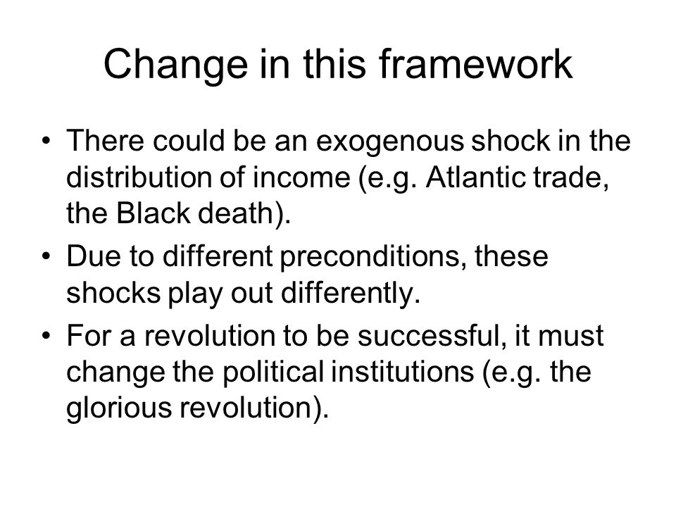 Change in this framework