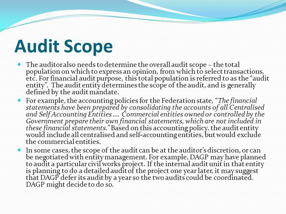 Financial audit manual ppt download for Internal audit scope template