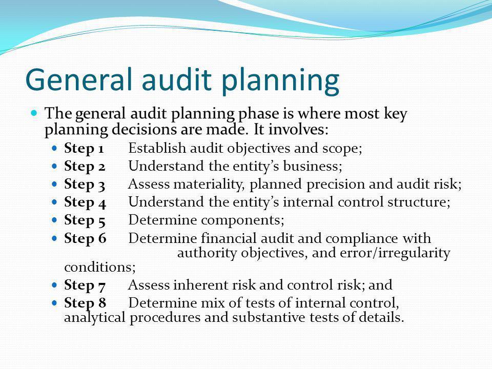 General audit planning