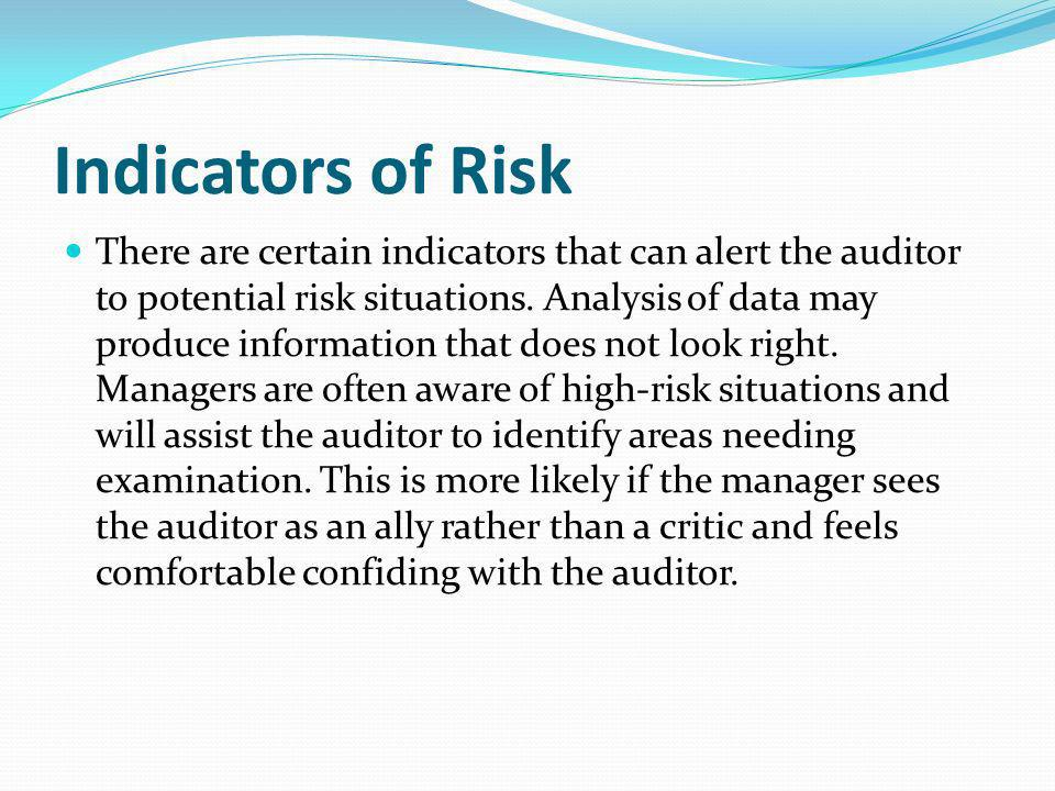 Indicators of Risk