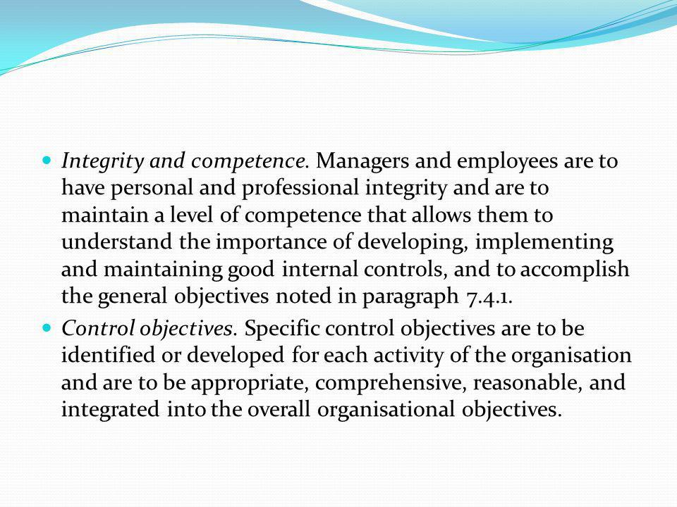 Integrity and competence