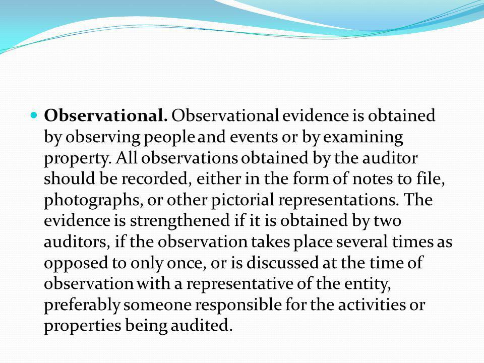 Observational.