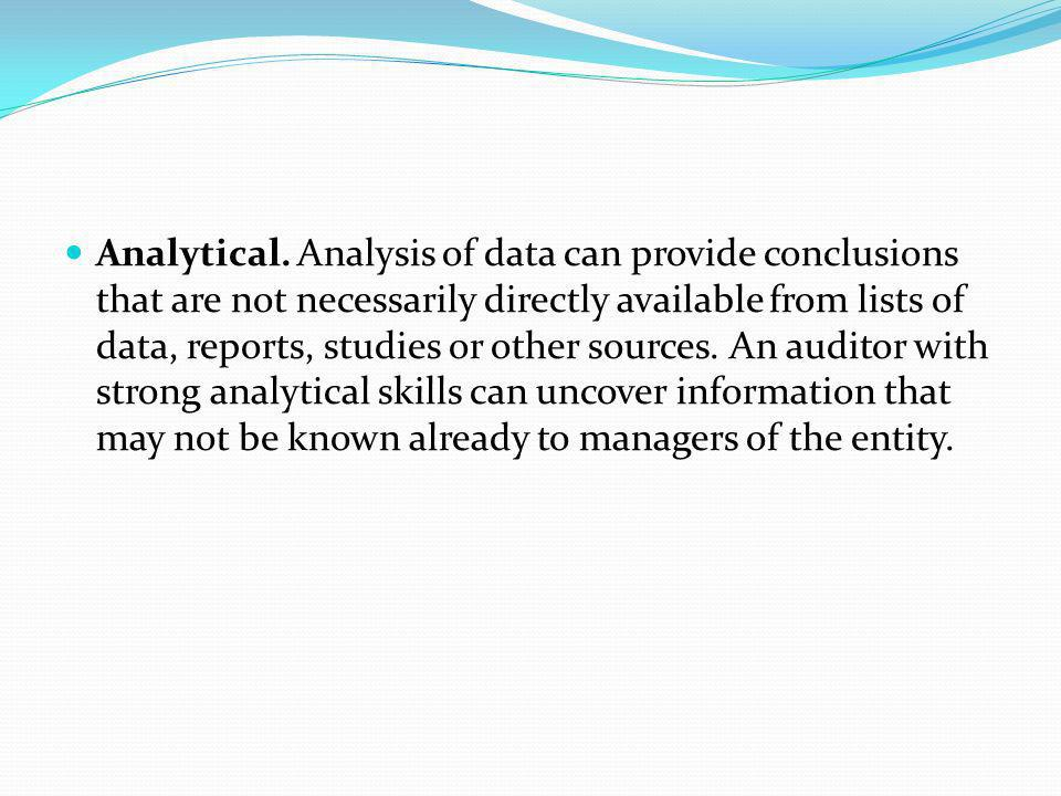 Analytical.