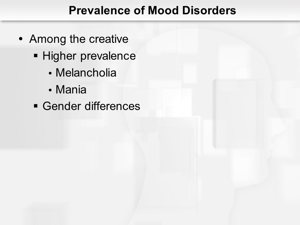 Prevalence of Mood Disorders
