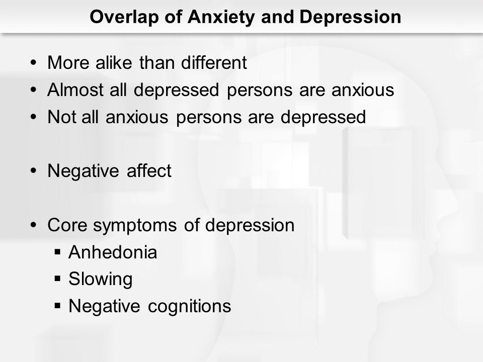 Overlap of Anxiety and Depression