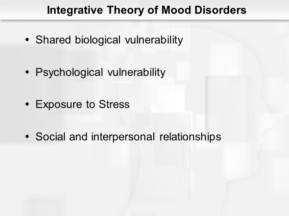 Integrative Theory of Mood Disorders
