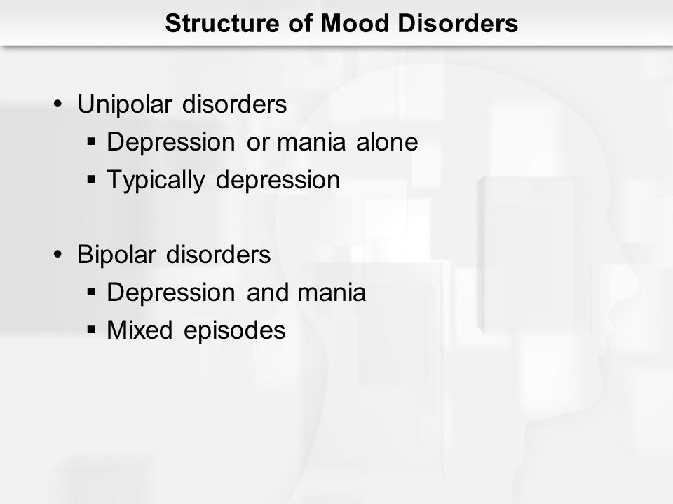 Structure of Mood Disorders
