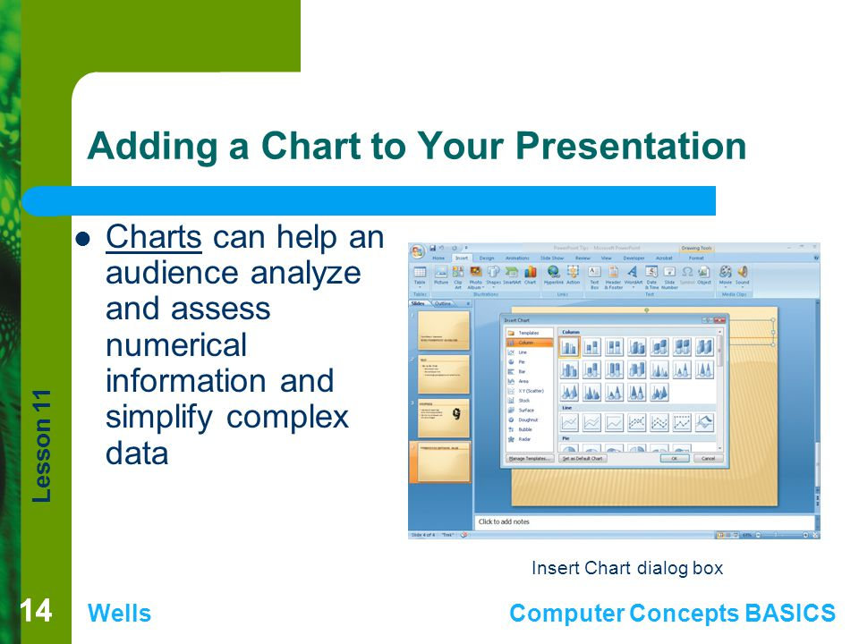 Adding a Chart to Your Presentation