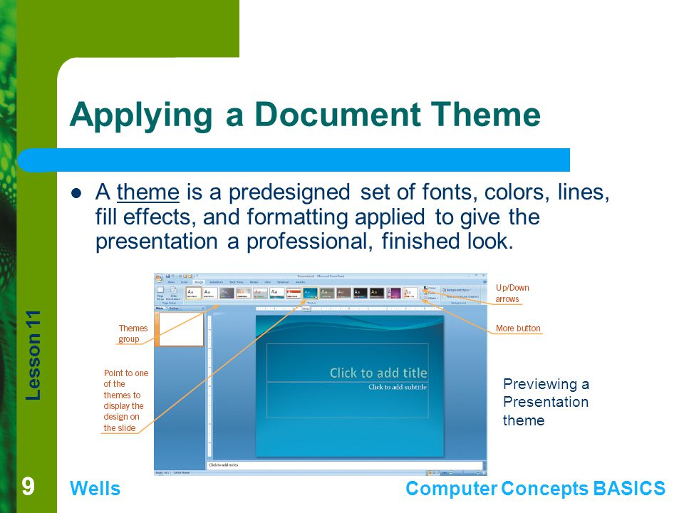 Applying a Document Theme