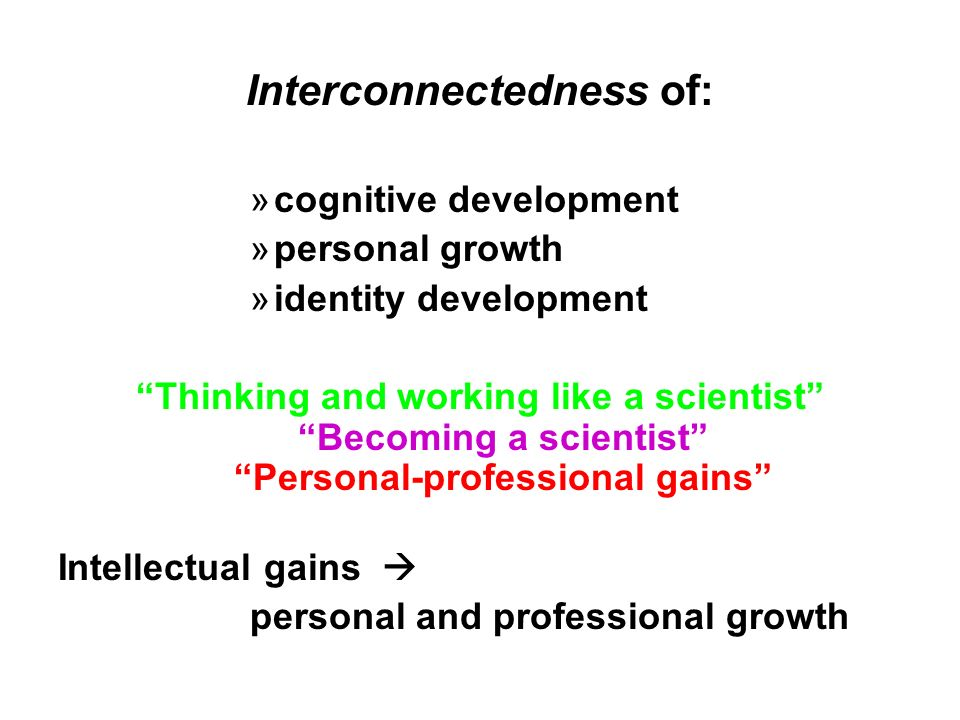 Interconnectedness of: