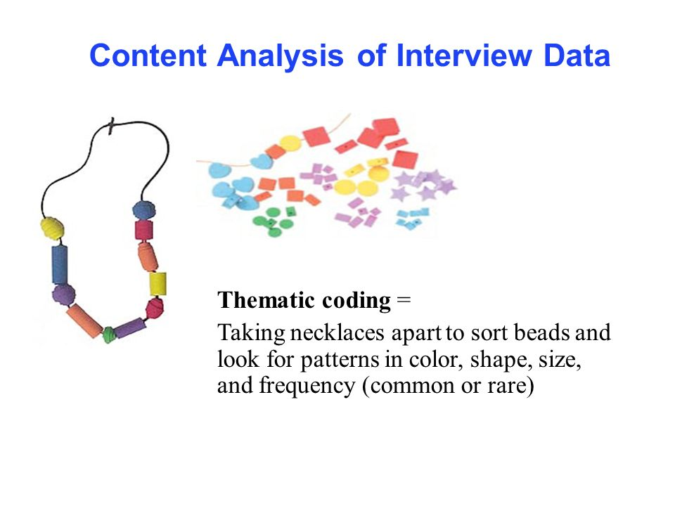 Content Analysis of Interview Data