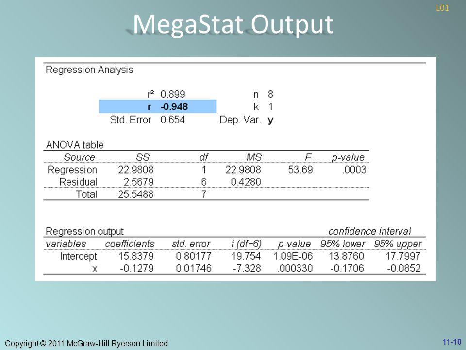 MegaStat Output L01