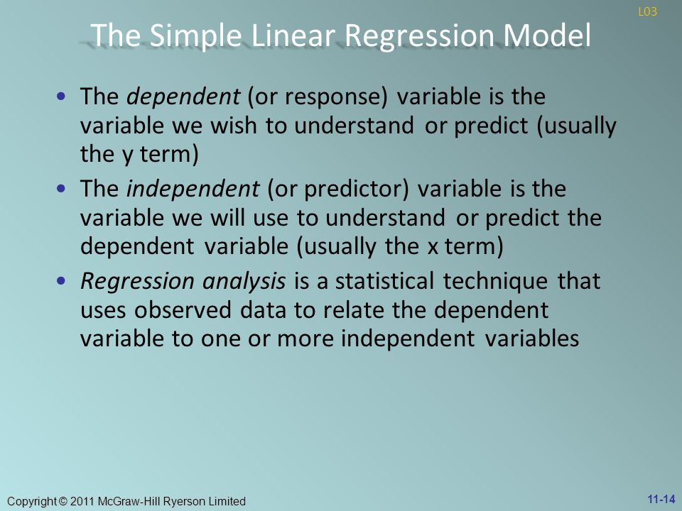 The Simple Linear Regression Model