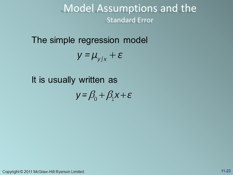 Model Assumptions and the Standard Error