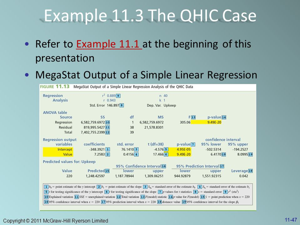 Example 11.3 The QHIC Case Refer to Example 11.1 at the beginning of this presentation.