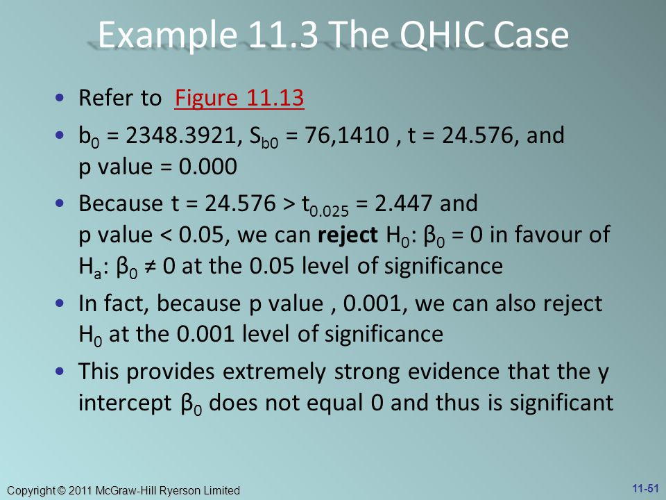 Example 11.3 The QHIC Case Refer to Figure 11.13