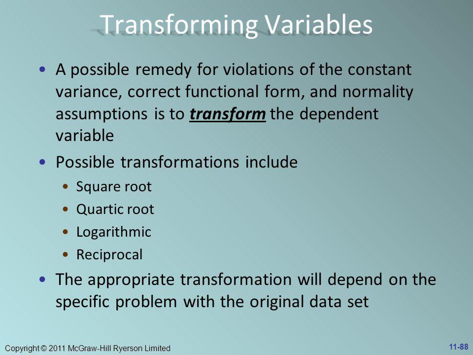 Transforming Variables