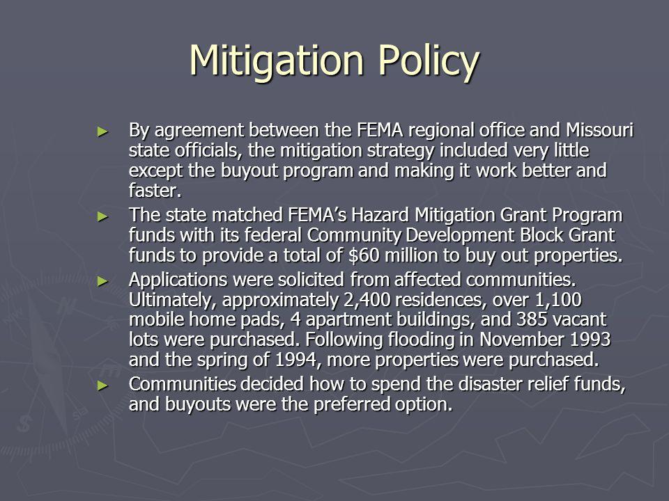 Mitigation Policy