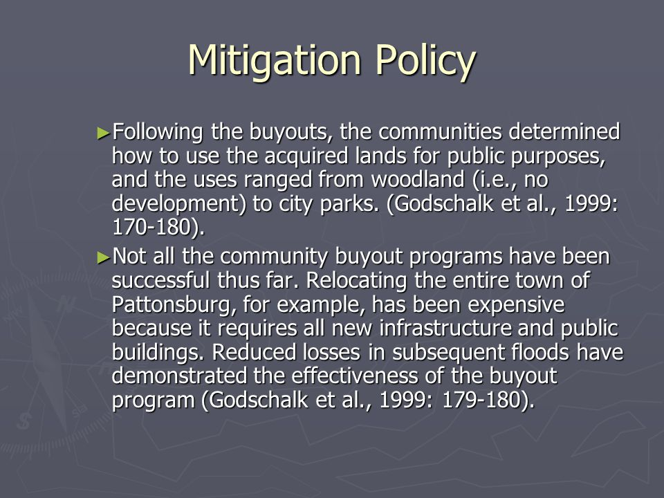 Mitigation Policy