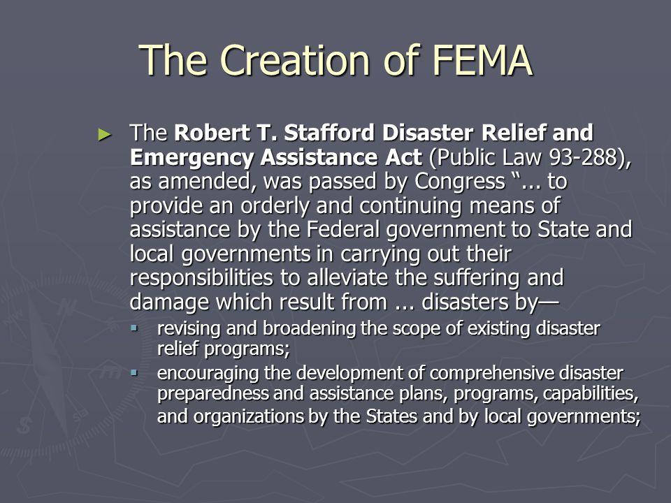 The Creation of FEMA
