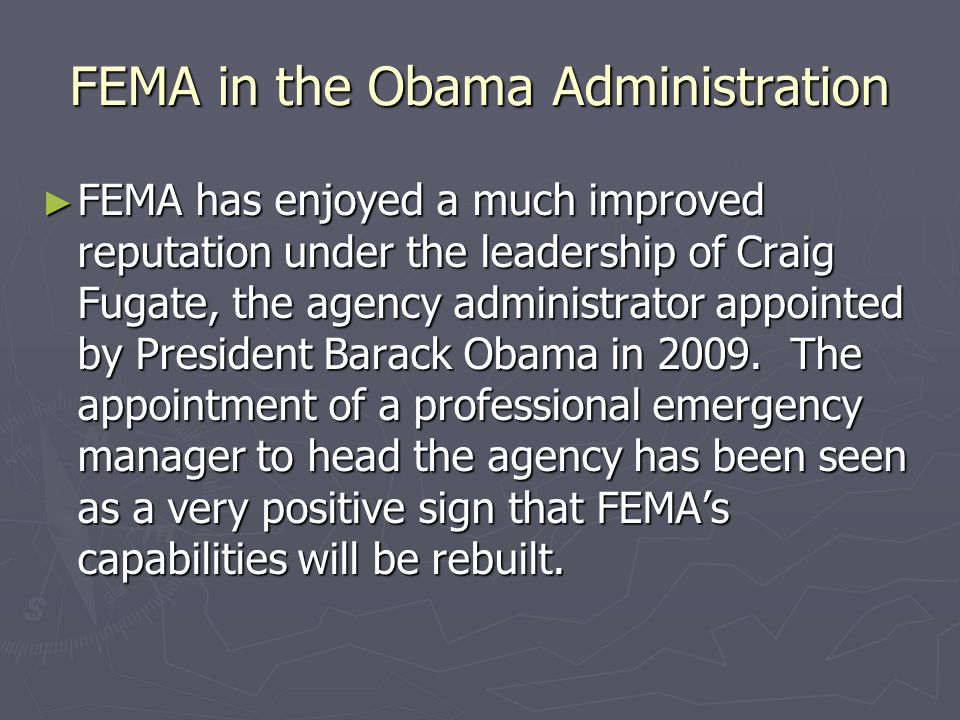 FEMA in the Obama Administration