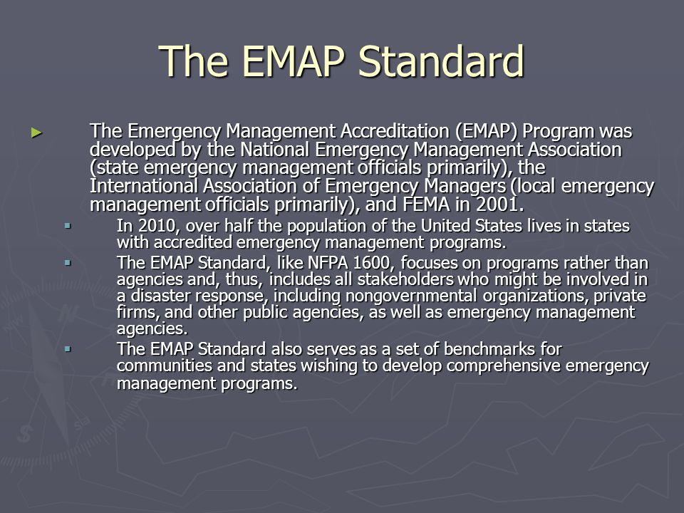 The EMAP Standard