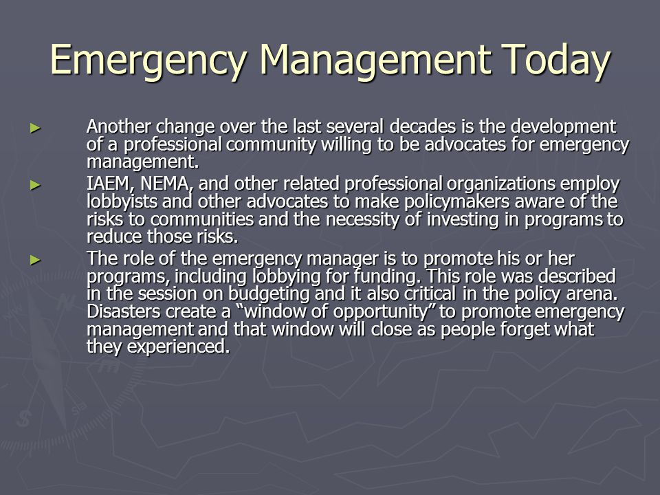 Emergency Management Today