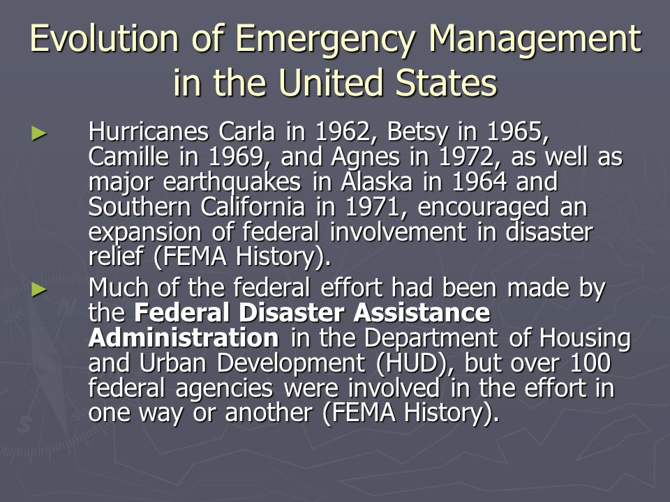 Evolution of Emergency Management in the United States