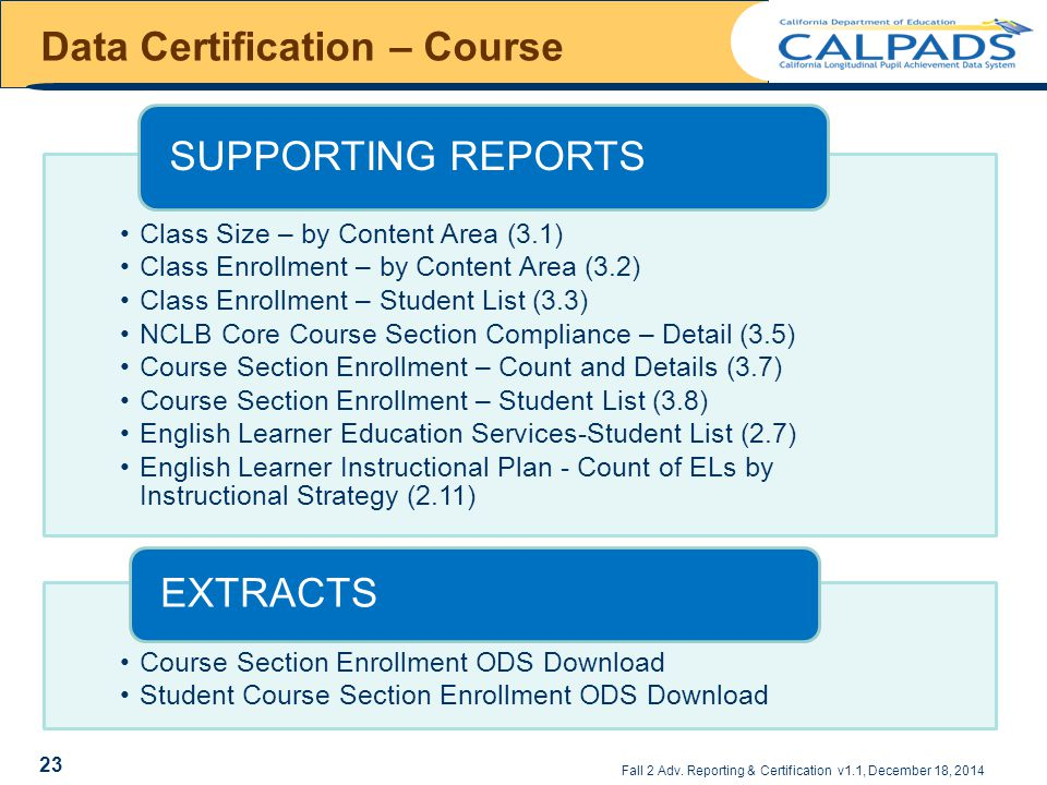 Data Certification – Course