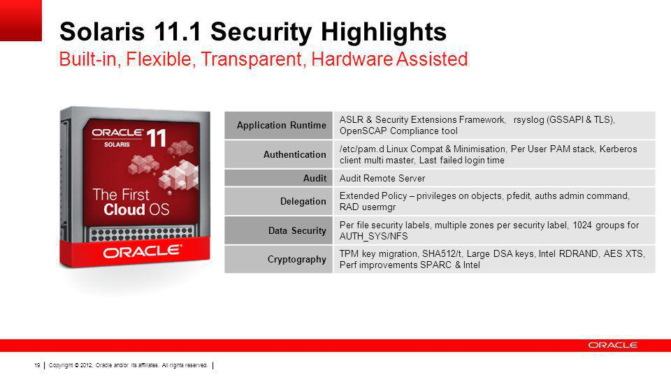 Solaris 11.1 Security Highlights