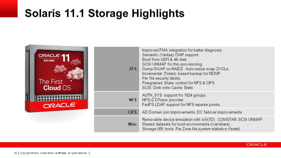 Solaris 11.1 Storage Highlights