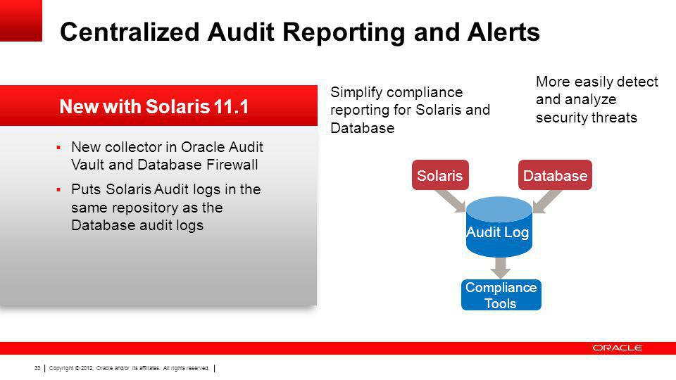 Centralized Audit Reporting and Alerts