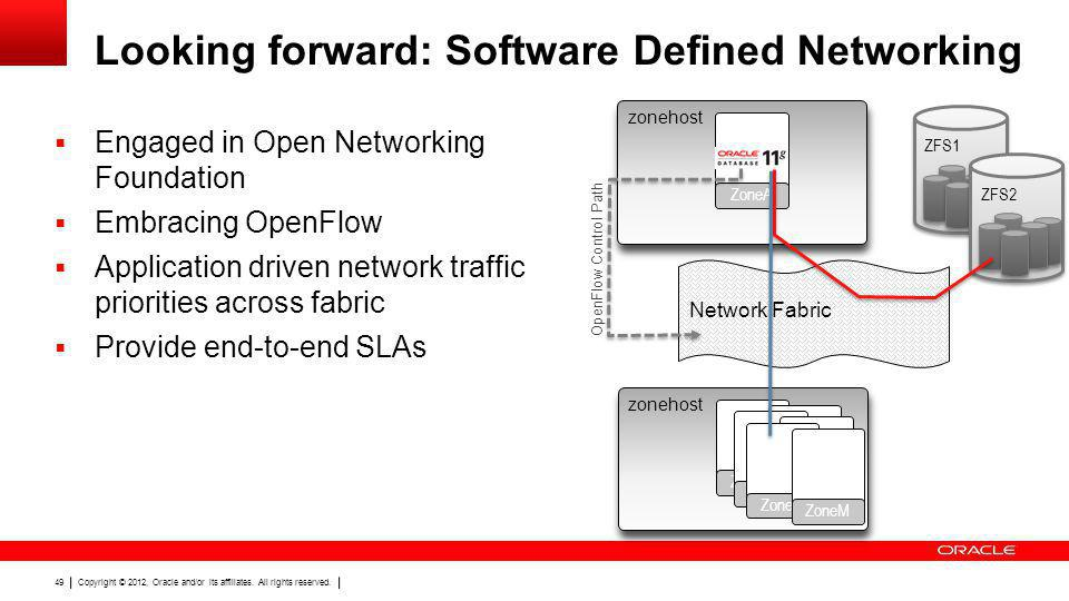 Looking forward: Software Defined Networking