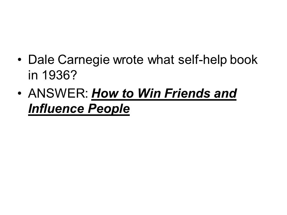 Dale Carnegie wrote what self-help book in 1936
