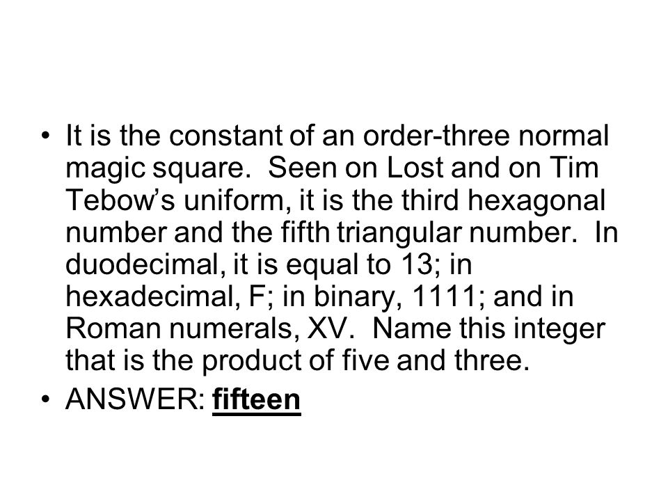 It is the constant of an order-three normal magic square