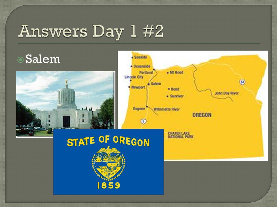 Answers Day 1 #2 Salem