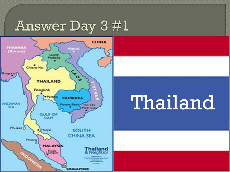 Answer Day 3 #1 Thailand
